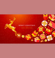 festive christmas and new year greeting card vector image vector image