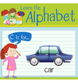 Flashcard letter C is for car vector image vector image