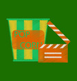flat icon in shading style popcorn cinema vector image vector image