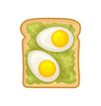 flat icon of delicious sandwich fresh rye vector image vector image