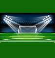 Football or soccer playing field sport game
