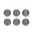 free shipping delivery icons set vector image vector image