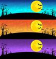 Halloween Background set vector image vector image