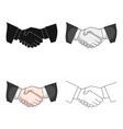 handshakerealtor single icon in cartoon style vector image vector image