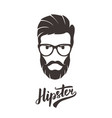 hipster fashion bearded man portrait in glasses vector image vector image