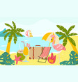 hot travel tour trip around world earth pink vector image vector image