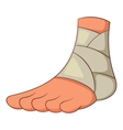 Injured ankle icon cartoon style vector image vector image