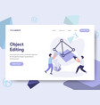 landing page template 3d printing object vector image vector image