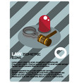 law color isometric poster vector image