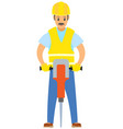 male with drill worker wearing special uniform vector image vector image