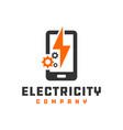 mobile electronic repair logo vector image vector image