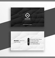 modern black and white business card template vector image vector image