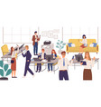 office business people with gadgets men and vector image