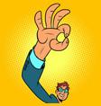 ok hand gesture positive businessman vector image vector image
