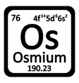 Periodic table element osmium icon vector image vector image