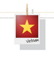 photo of vietnam flag on white background vector image