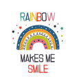 poster with cheerful rainbow vector image