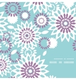 Purple and blue floral abstract frame corner vector image