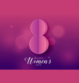 purple beautiful happy womens day background vector image