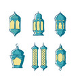 ramadan kareem background with lights ramadan vector image vector image