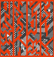 red color tribal seamless pattern vector image