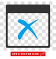 Reject Calendar Page Eps Icon vector image vector image