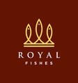 royal fishes logo vector image