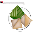 Saksak Papua New Guinean Food vector image vector image