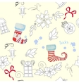 Seamless pattern with Christmas things-03 vector image vector image