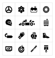 Set icons of karting vector image