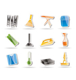 simple home objects and tools icons vector image vector image