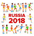 Soccer player set 2018 fifa world cup