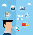 Social media network flat vector image