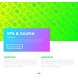 spa sauna concept with thin line icons vector image