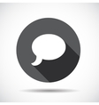 Speech Bubble Flat Icon with long Shadow vector image vector image