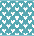 tile pattern with white hearts on green background vector image vector image