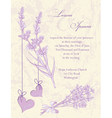 Wedding invitation card Lavender background vector image vector image