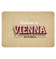 welcome to vienna vector image