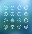 white circle icons clip-art on color background vector image vector image