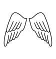 wings angel drawn icon vector image vector image