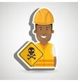 worker symbol danger vector image vector image