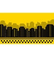 yellow backdrop for city taxi vector image vector image