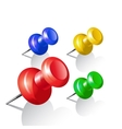 Set of push pins Thumbtack vector image