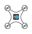Drone camera isolated silhouette icon vector image