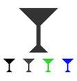 wine glass flat icon vector image
