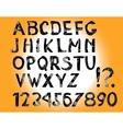 English Hand Drawn Alphabet vector image