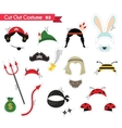 paper cut out for kids with costume accessories vector image