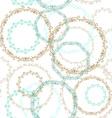 Vintage seamless patern blue brown circle on white vector image