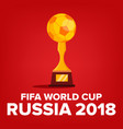 2018 fifa world cup background russia vector image