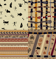 A set of patterns primitive tribal painting vector image vector image